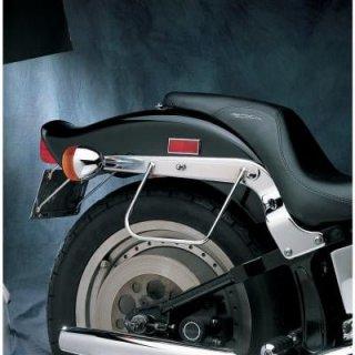 ドラッグ製 クローム サドルバッグサポート ブラケット 84-99 FXST/FLST DS-110846