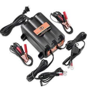 ハーレー純正 グローバルバッテリーチャージャー(1.25アンペア) フロート式 2台同時充電用 99829-09