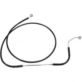 DRAG ブラック フロント ブレーキラインキット +4インチ 2009-13 FLHT/ FLHR/ FLTR/ FLHX ABS付(アッパー側)  1741-2934