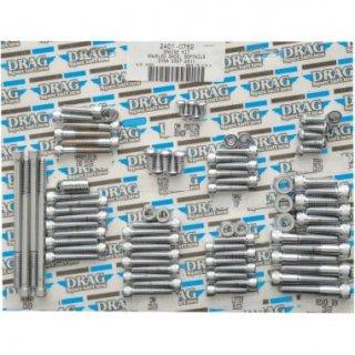 ドラッグスペシャリティーズ クローム ナールド ソケットヘッド ボルトセット コンプリートモーター 07-17 FXST/ FLST/ FXD 2401-0762