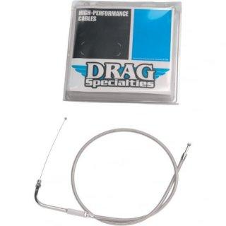 DRAG スロットルケーブル(引き側) ステンメッシュ 32.5インチ 1996-2019モデル 0650-0295