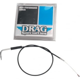 DRAG スロットルケーブル(引き側) ブラックビニール 33.75インチ 1981-1989 ケイヒンバタフライ 0650-0348