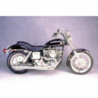 サンダーヘッダー 2in1 マフラー ブラック 70-83年 ショベル TH1020B
