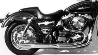 サンダーヘッダー 2in1 マフラー ブラック 84-86年 FXR ミッドコン TH1015B