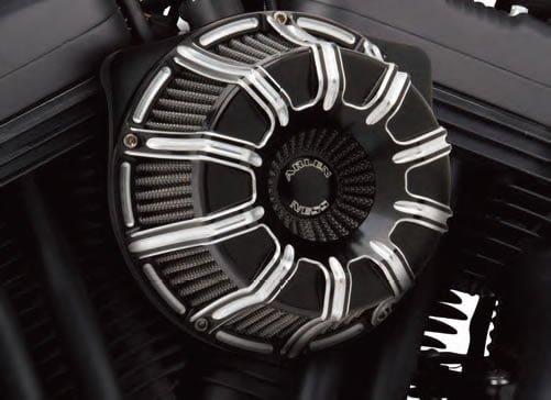 アレンネス INVERTED エアクリーナー 10-GAUGE ブラックアノダイズ 08-17ツインカムの電子スロットルモデル 1010-1503
