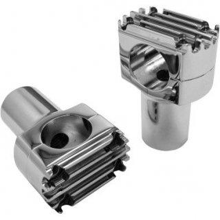 NYC チョッパーズ  GROOVED ライザー 1.69インチライズ クローム 1インチ径ハンドル用 0602-0679