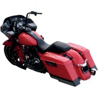 サイクルスミス ビレット 3インチ サドルバッグエクステンション ブラック/ハイライト 右カット 2014-19 ツーリング 3501-0951