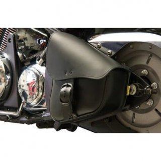 ウィリー&マックス レザー スイングアームバッグ ブラック/ブラック 84-17 FLST/FXST 3501-1001