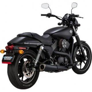 バンス&ハインズ コンペティション スリップオンマフラー ブラック 2015-19 XGストリート 500/750 1801-0733