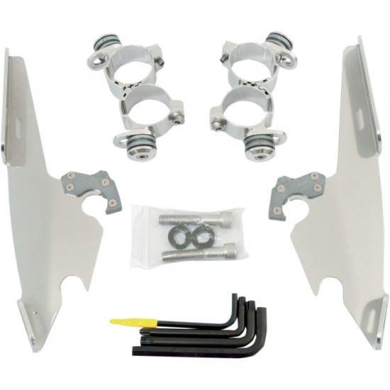 バッドウイング用 トリガーロックマウントハードウェア ポリッシュ 09-19 XL883N/06-11 XL1200L/05-10 XL883L 2320-0170