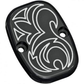 アレンネス クラッチマスターシリンダーカバー Engraved ブラック 2014-16ツーリング油圧クラッチ車 03-436