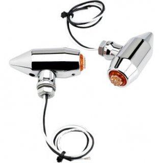 ジョーカーマシン VEGA LED ターンシグナル アンバー クローム センターマウント 2020-0956