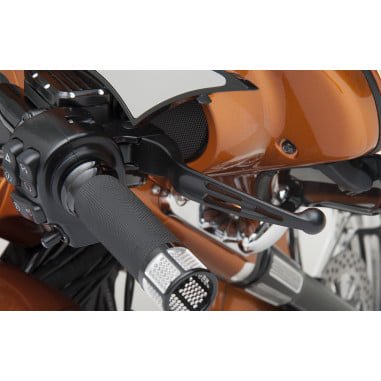 ドラッグ製 SLOTTED WIDE BLADE レバーセット マットブラック 14-16ツーリングモデルで油圧クラッチ車 0610-0793