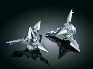 クリアキン フロント アクスルキャップ Spun Blade Spinning Pointed  84-06ソフテイル 1232