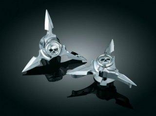 クリアキン フロント アクスルキャップ Spun Blade Spinning Zombie 84-06ソフテイル 1235