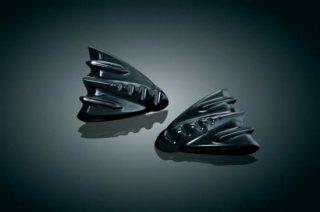 クリアキン インナーフェアリングカバープレート グロスブラック 06-13 FLHX 7210