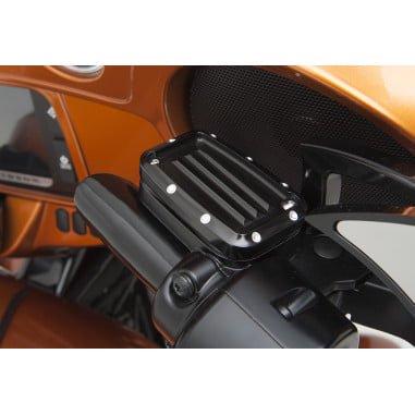 コビントン フロントマスターシリンダーカバー dimpled グロスブラック 2008-16ツーリング 0610-0676