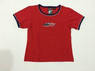 ハーレー純正 Tシャツ レディース Sサイズ レッド 刺繍HARLEY-DAVIDSON USA