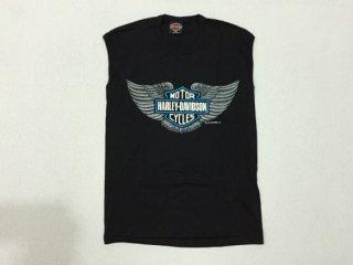 ハーレー純正 ノースリーブシャツ メンズ Mサイズ ブラック イーグルウイング BAR & SHIELD