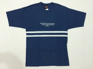 ハーレー純正 Tシャツ メンズ Mサイズ ネイビーブルー AMERICAN MOTORCYCLE SINCE 1903