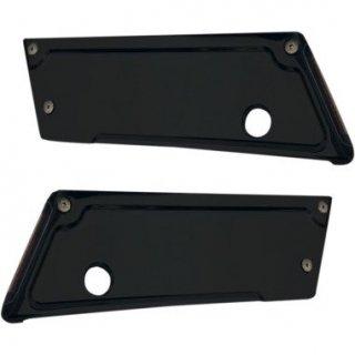 アロイアート サドルバッグラッチカバー LEDライト付き ブラック 93-13ツーリング 3501-0861