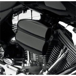 サイクルビジョン MO-FLOW ビレットエアクリーナー グロスブラック 08-17ツインカムの電子スロットルモデル 1010-0450
