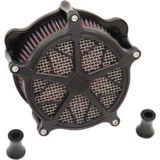 ローランドサンズ Hutch エアクリーナー ブラックOPS 08-17ツインカムの電子スロットルモデル 1010-1803
