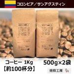 コロンビアサンアグスティン<500g×2袋>