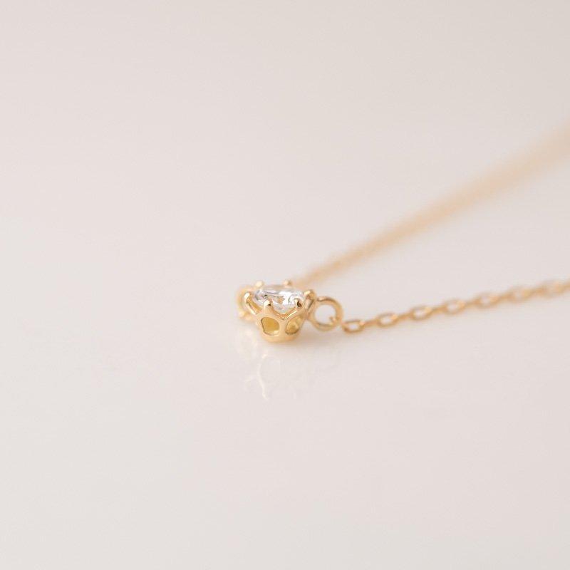クロッシェ プティ ダイヤモンド ネックレス