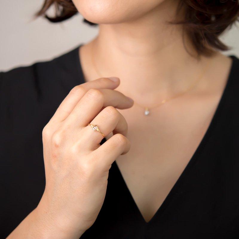 【1点もの】ロコ ローズカット ブラウンダイヤモンド K18 リング