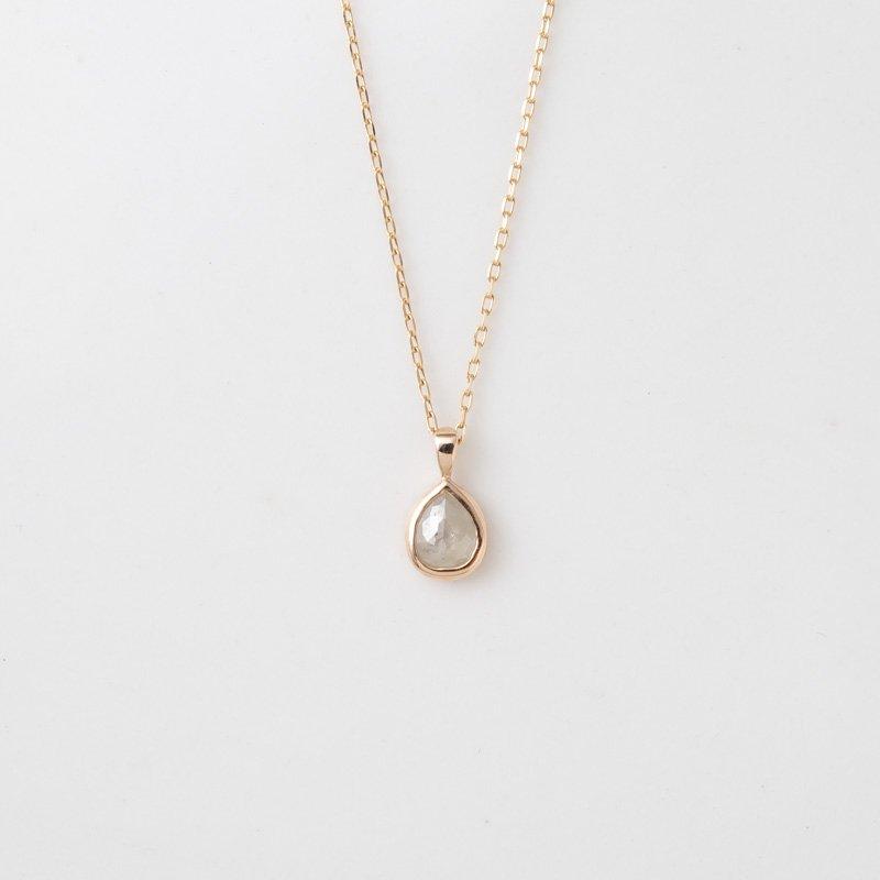 【1点もの】ティアドロップ ナチュラルダイヤモンド K10YG ネックレス