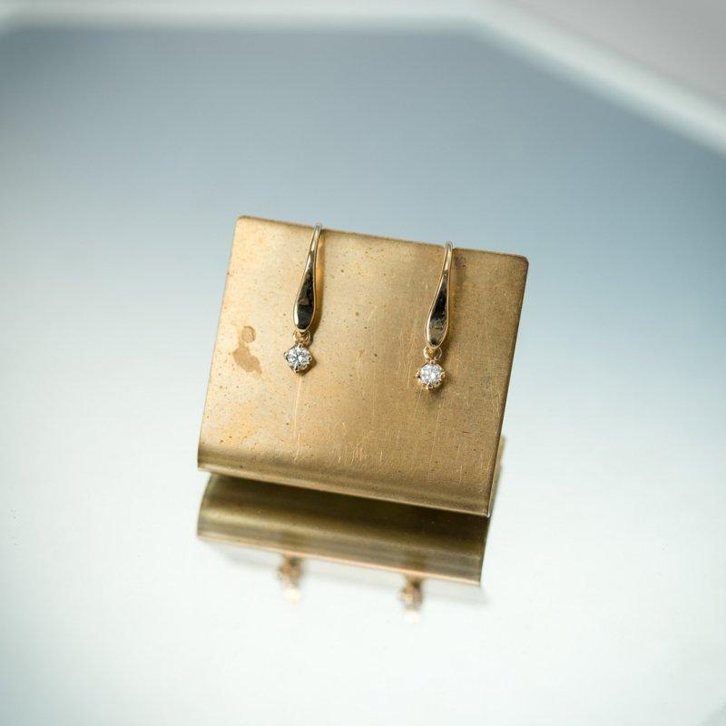 ルミエール ダイヤモンド K18 シルクピアス