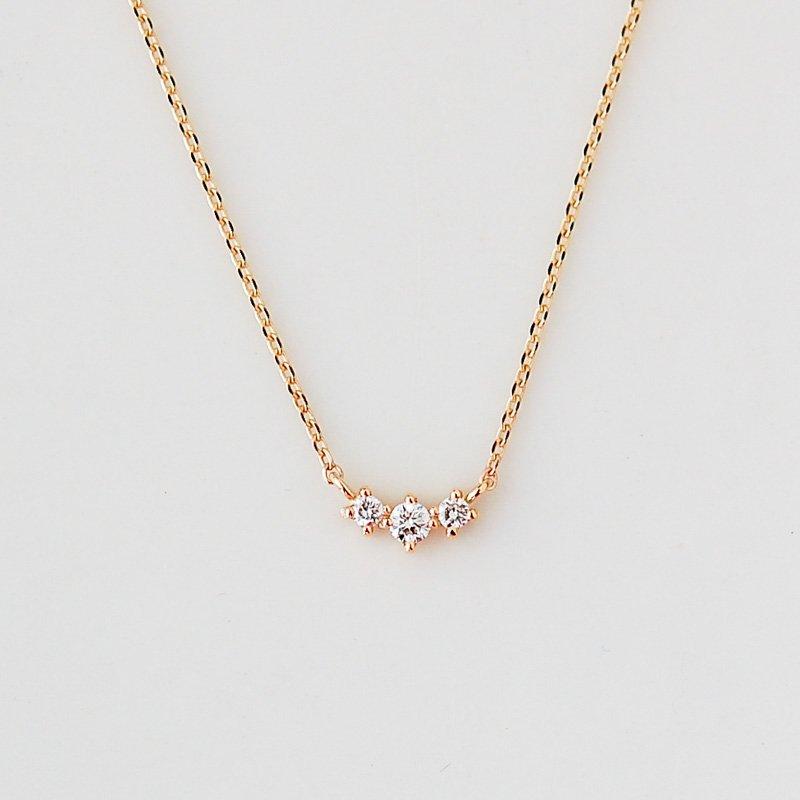 トロワ ダイヤモンド ネックレス