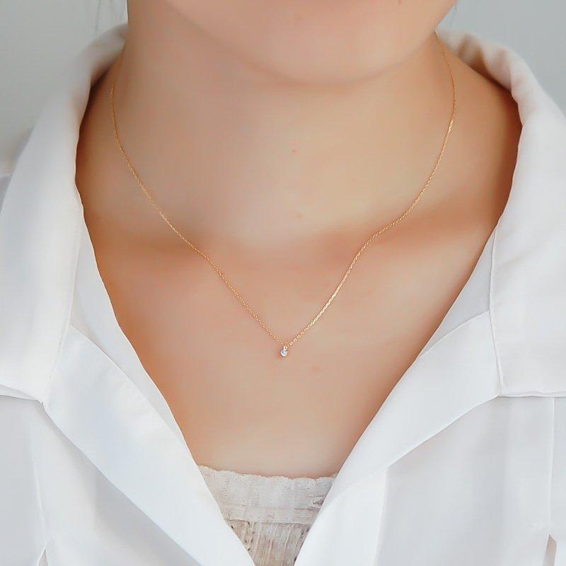 ルミエール ダイヤモンド K18 プチネックレス