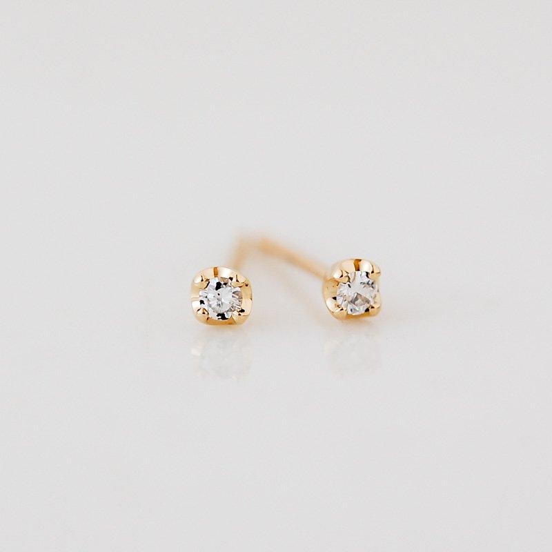 ルミエール ダイヤモンド K18 プチピアス
