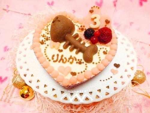 【にゃんにゃんの日セール対象商品】◆ ほねほねフィッシュのハートケーキ【まぐろ】 ◆猫用ケーキ,犬用ケーキ,ペット用ケ…