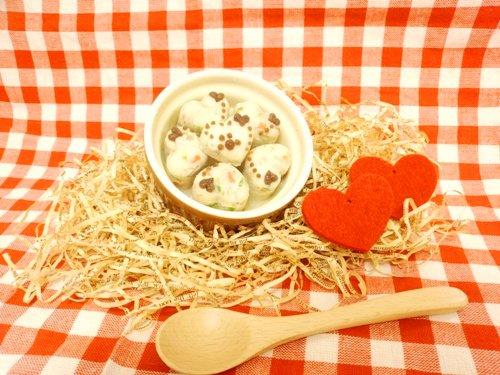 ◆ぷっくりハートのぷち豆腐バーグ【ささみ】◆愛犬用ごはん・愛猫用ごはん・ペット用ごはん・手作りごはん・無…