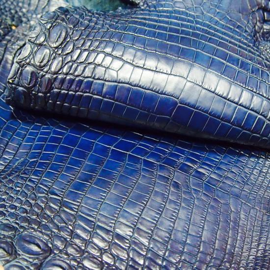 da389cd40557 クロコダイル/本藍染(7SENSE Original Special Color)の画像追加UP!! ※※※ 硬くない藍染クロコダイルは大変貴重です!!(現在革制作は終了しております。)  - 7SENSE