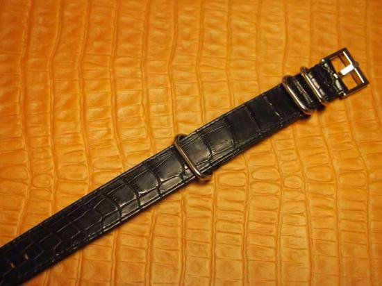 【7SENSE】クロコダイルNATOベルト (22mm用)