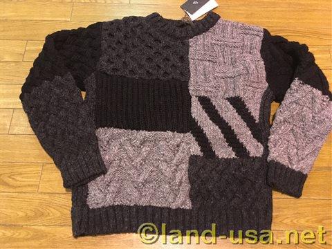 [Johnbull (ジョンブル)] パッチワークセーター