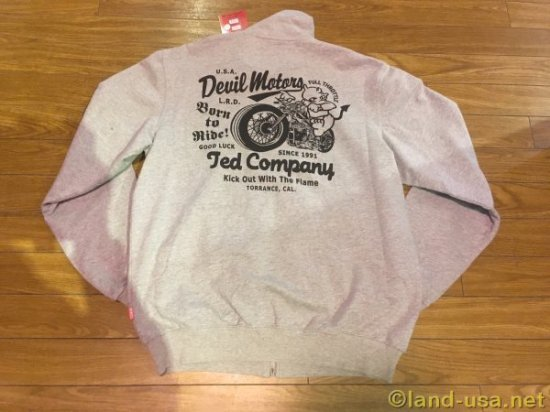 [TEDMAN'S (テッドマン)]  SWEAT ZIP BORN TO RIDE