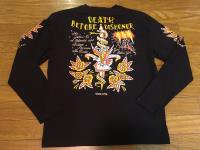 [BLOOD MESSAGE (ブラッドメッセージ)]  L/S Tシャツ DEATH BEFORE DISHONOR