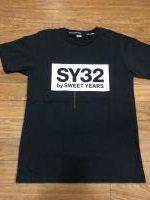 SY32 BOX LOGO TEE BLK×WHT