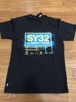 [SY32 SWEET YEARS] FLUORESCENT LOGO TEE BLK×YELLOW