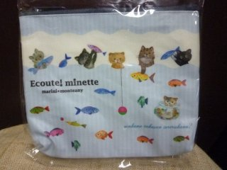 E.minette フラットポーチS フィッシュ