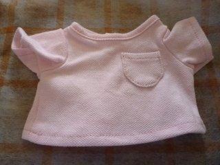 カラーTシャツ(鹿の子風) ピンク