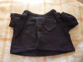 カラーTシャツ(鹿の子風) ブラック