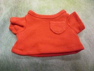 カラーTシャツ(鹿の子風)レッド