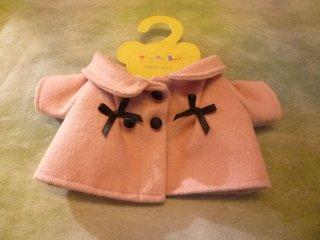 くるみボタン ピンクコート