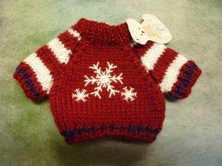 セーター '15 スノーフレークレッド